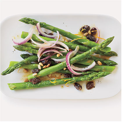 Raisin and Pine Nut Asparagus