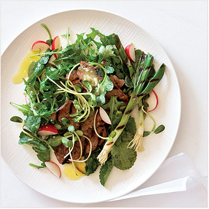 Grilled Beef and Spring Onion Salad Recipe | MyRecipes.com
