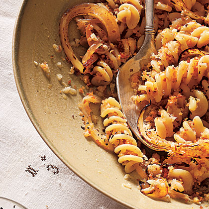 Fusilli with Caramelized Spring Onions and White WineRecipe