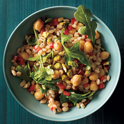 Mediterranean Barley with Chickpeas and Arugula