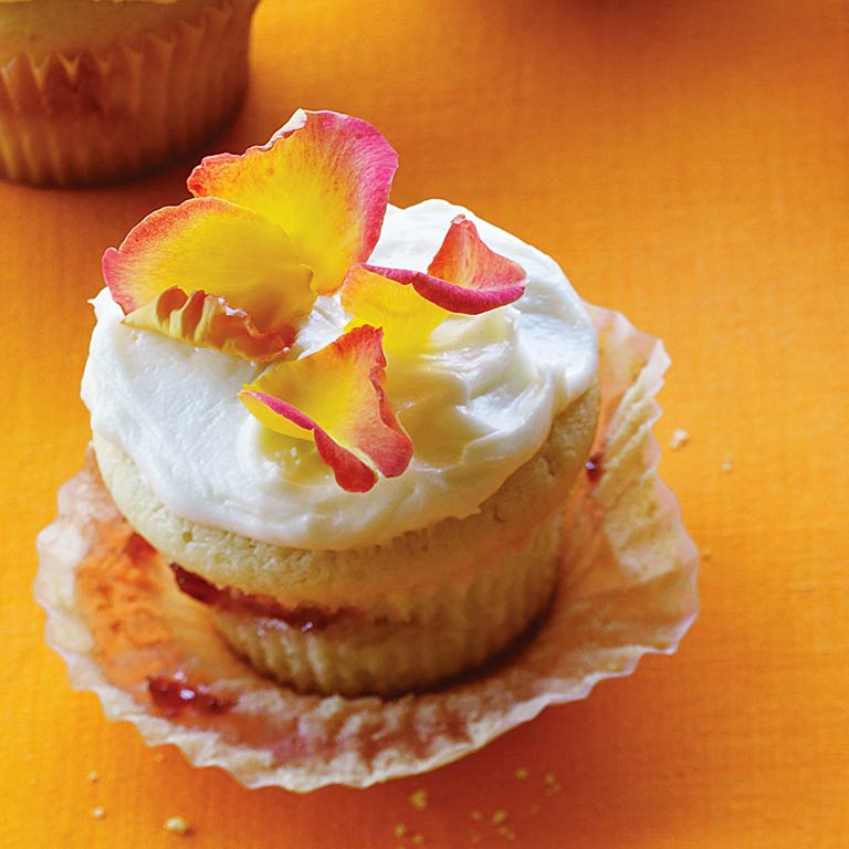 Strawberry-Rose Cupcakes