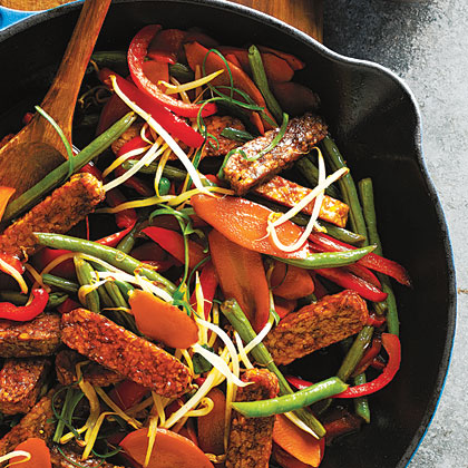 Tempeh and Green Bean Stir-Fry