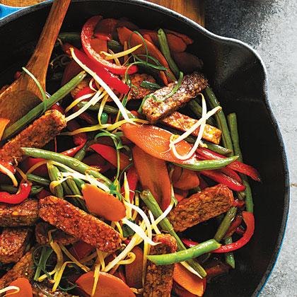 Tempeh and Green Bean Stir-Fry