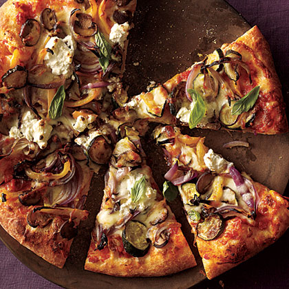 ck-Roasted Vegetable and Ricotta Pizza Recipe