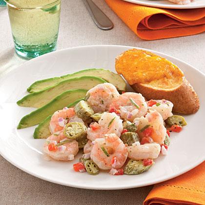 Pickled Okra and Shrimp Salad