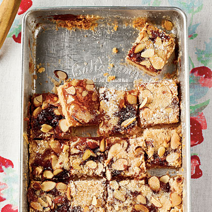 Peach Melba Shortbread Bars