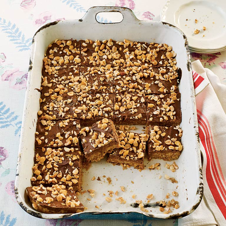 Peanut Butter-Chocolate-Oatmeal Cereal Bars Recipe