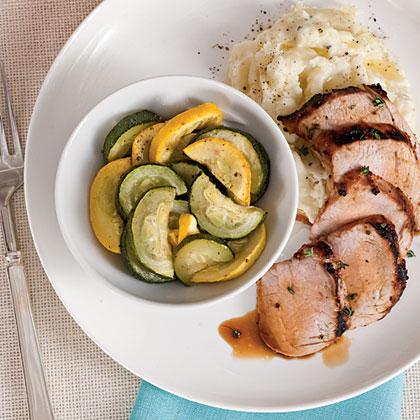 Grilled Pork Tenderloin with Squash MedleyRecipe