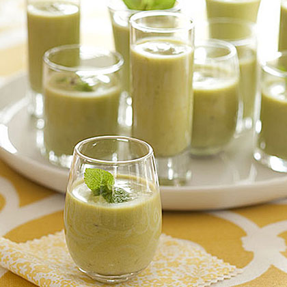 Chilled Pea Soup Shooters