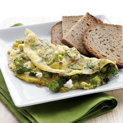 broccoli-feta-omlet Recipe