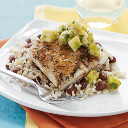 Caribbean Mahi Mahi with Banana Chutney Recipe | MyRecipes