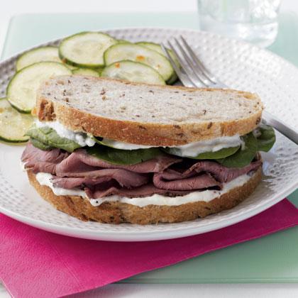 Roast Beef Sandwich with Horseradish Aioli Recipe | MyRecipes.com