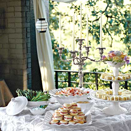 our best wedding and bridal shower recipes and menus