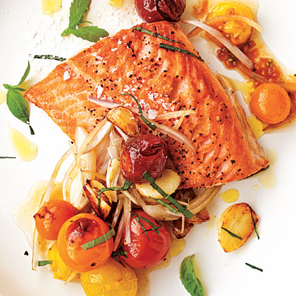Arctic Char with Blistered Cherry TomatoesRecipe