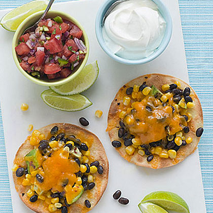 Corn, Avocado and Black Bean TostadasRecipe