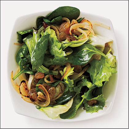 Greens with Golden Raisins Recipe