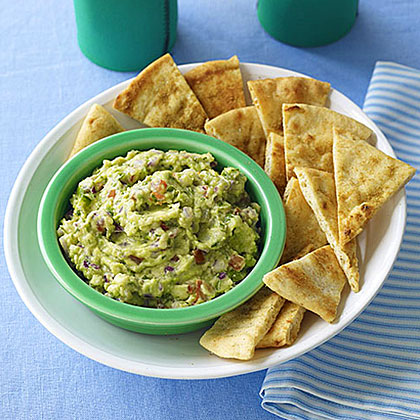 Guacamole with Cumin Chips