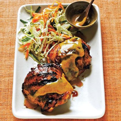 Maple-Mustard Chicken Thighs Recipe | MyRecipes
