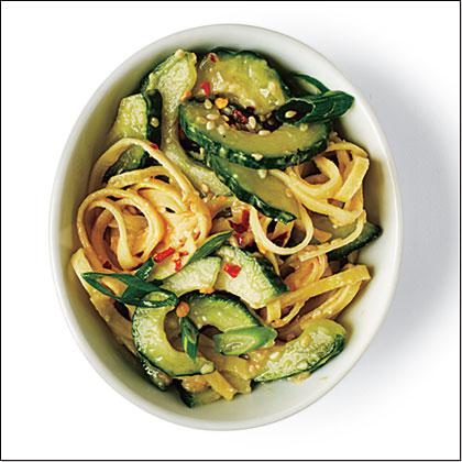 Spicy Pasta Cucumber Salad Recipe