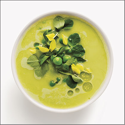 Fresh Pea and Garlic Gazpacho Recipe