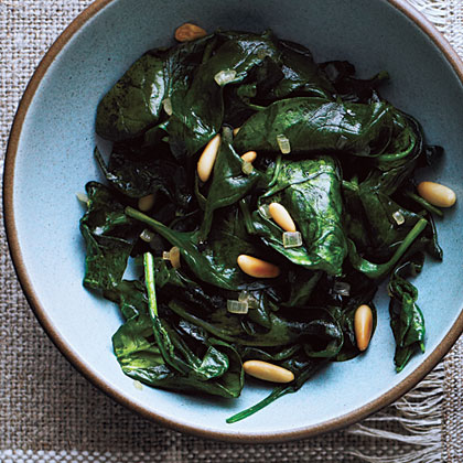 Sauteed Spinach and Pine Nuts Recipe