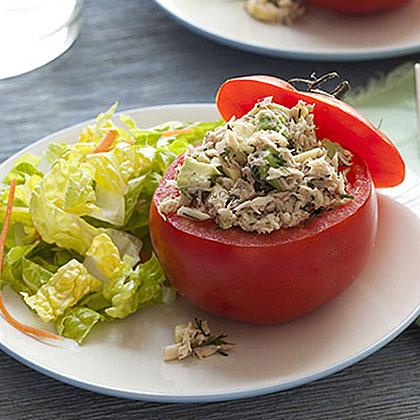 Tuna and Avocado-Stuffed Tomatoes