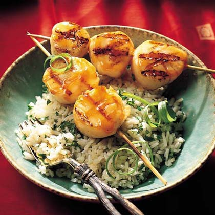 Grilled Sweet-and-Sour ScallopsRecipe
