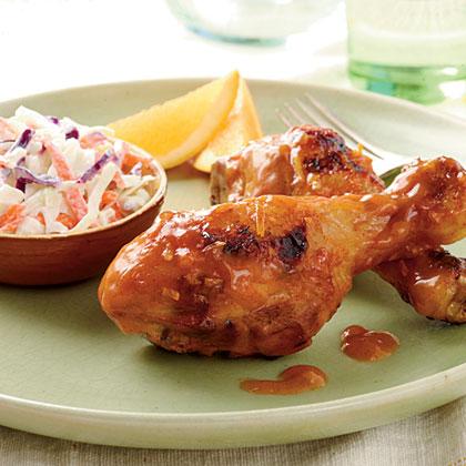 Chipotle-Orange Chicken Legs Recipe | MyRecipes