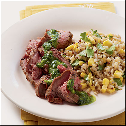Cilantro Flank Steak Recipe
