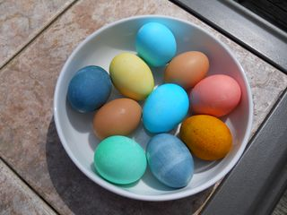 Easter Egg Colors from the Pantry