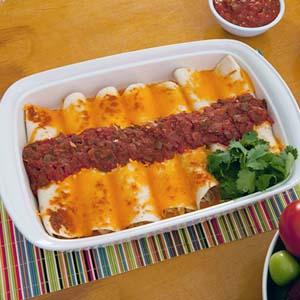 fastest ever chicken enchiladas