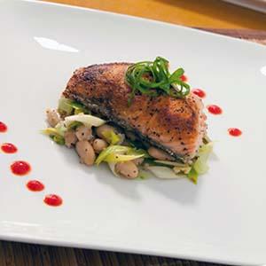 pan-seared crispy salmon