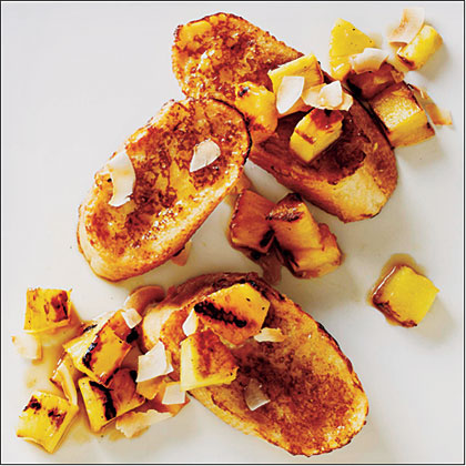 Coconut French Toast with Grilled Pineapple