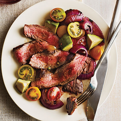 grilled flank steak with tomatoes red onion and balsamic flank steak ...