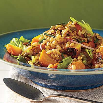 Golden Beet Salad with Wheat Berries and Pumpkinseed VinaigretteRecipe