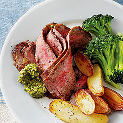 Grilled Flank Steak with Tapenade Recipe