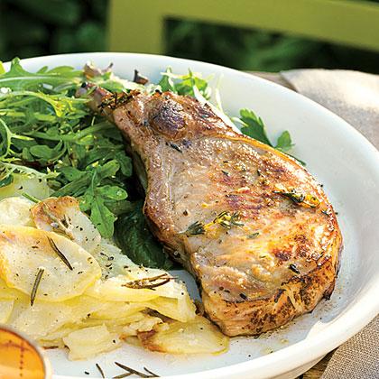 Lemon and Thyme Grilled Pork ChopsRecipe