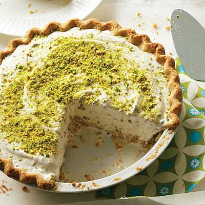 Pistachio-Cardamom Ice Cream PieRecipe