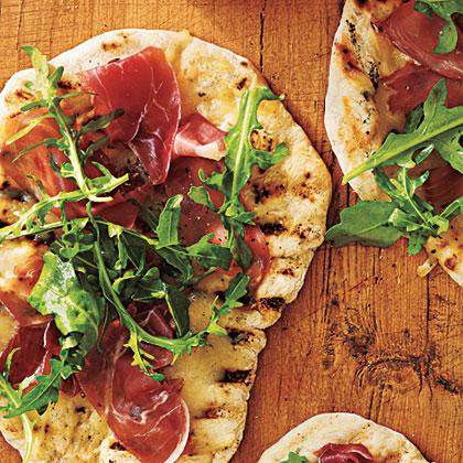 Grilled Pizza with Prosciutto, Arugula, and Lemon Recipe