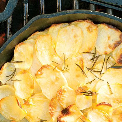 Grilled Potato Rosemary Cake