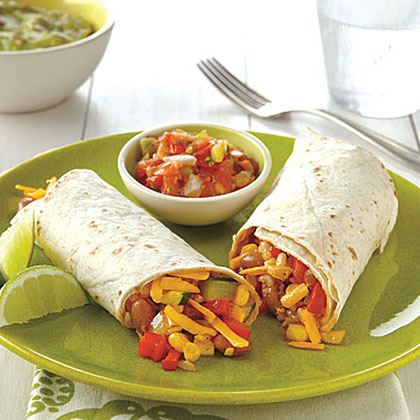 Rice and Bean Burritos Recipe