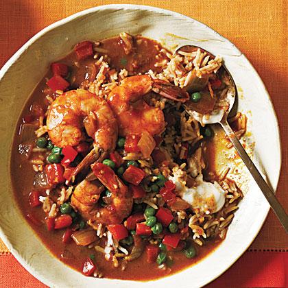 Shrimp Korma and Basmati Rice