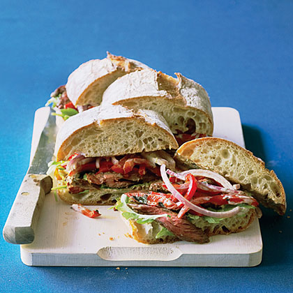 Hanger Steak Sandwiches with Chile-Lime Mayo Recipe