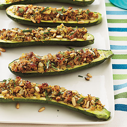 Stuffed Zucchini with Cheesy Breadcrumbs Recipe1 MyRecipes