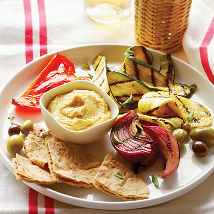 Grilled Vegetable Meze Plate Recipe
