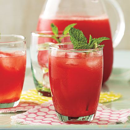 Minted Lemon-Lime Watermelon Agua Fresca
