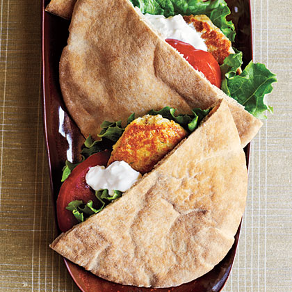 White Bean and Sage Pita Burgers