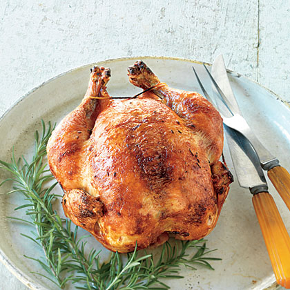 Rosemary-Brined Rotisserie Chicken Recipe
