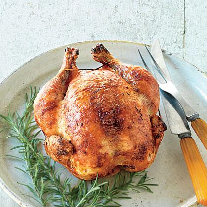 Rosemary-Brined Rotisserie Chicken