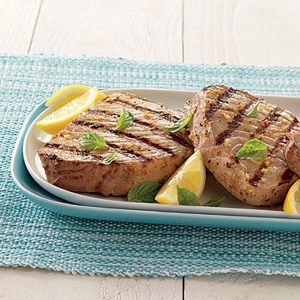 Tuna Steaks with Lemon Vinaigrette
